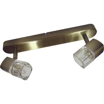 Δίφωτο σποτ οροφής 30cm με περιστρεφόμενες κεφαλές από γυαλί