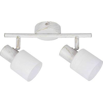 Σποτ οροφής 27cm δίφωτο Ε14 με γυάλινες κεφαλες