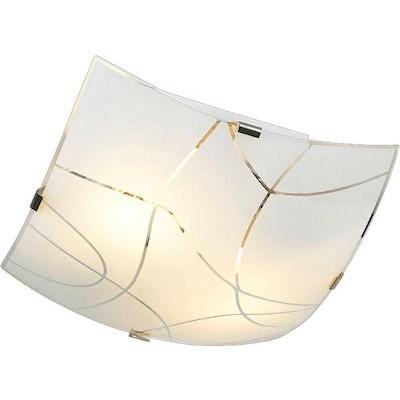 Τρίφωτη πλαφονιέρα οροφής 40x40cm γυάλινη με σχέδια
