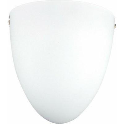 Γυάλινη απλίκα 20x22cm σε λευκό χρώμα