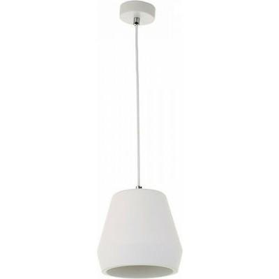 Κρεμαστό φωτιστικό λευκό Ø23x27cm από γύψο