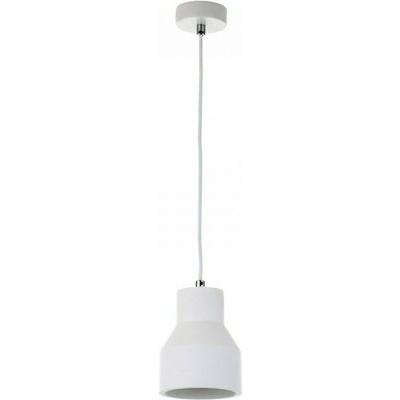 Κρεμαστό φωτιστικό λευκό Ø16x24cm από γύψο
