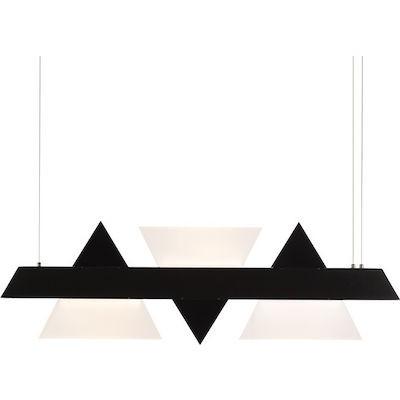 Κρεμαστό φωτιστικό 100cm με τρίγωνα