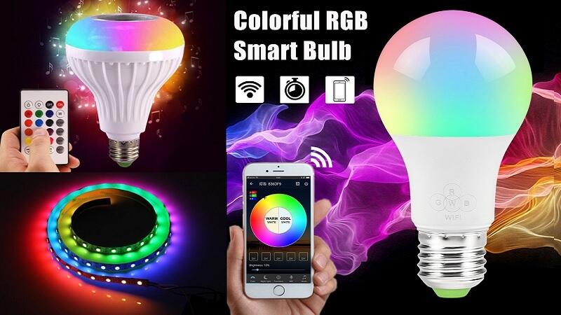 Έξυπνες λάμπες - Λάμπες RGB - Λάμπες με τηλεχειριστήριο
